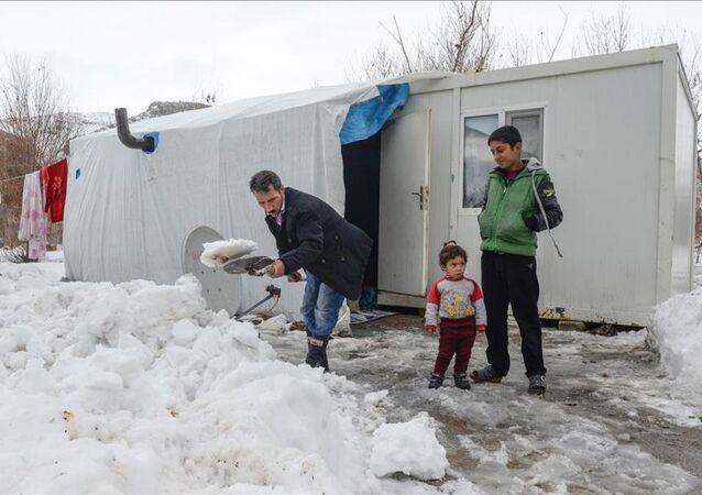 Suriyeli sığınmacıların kış çilesi