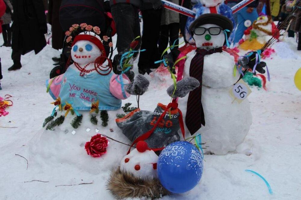 'Kardan adam'lar Tataristan'da yarıştı