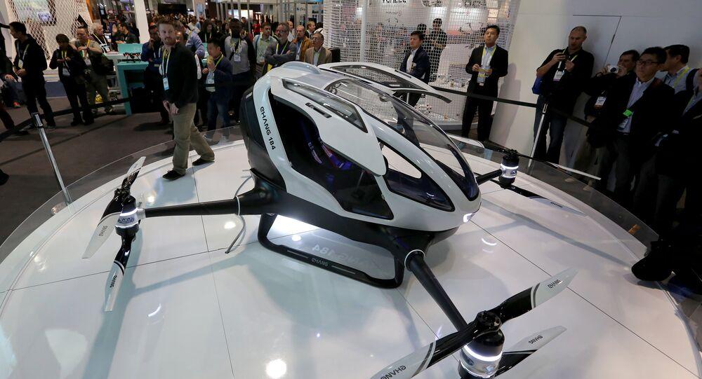 Çinli drone üreticisi Ehang şirketi, dünyanın ilk yolcu taşıma kapasiteli drone'unu tasarladı.