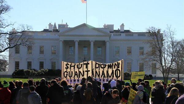 Guantanamo'nun 14'üncü yıldönümü protesto edildi  - Sputnik Türkiye