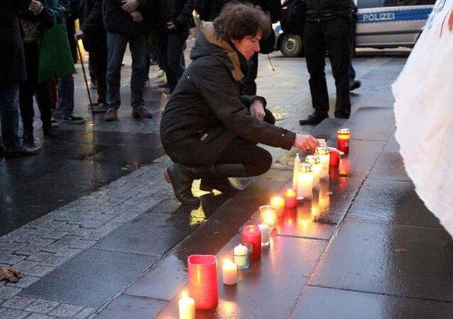Sultanahmet'teki terör saldırısı Almanya'da protesto edildi
