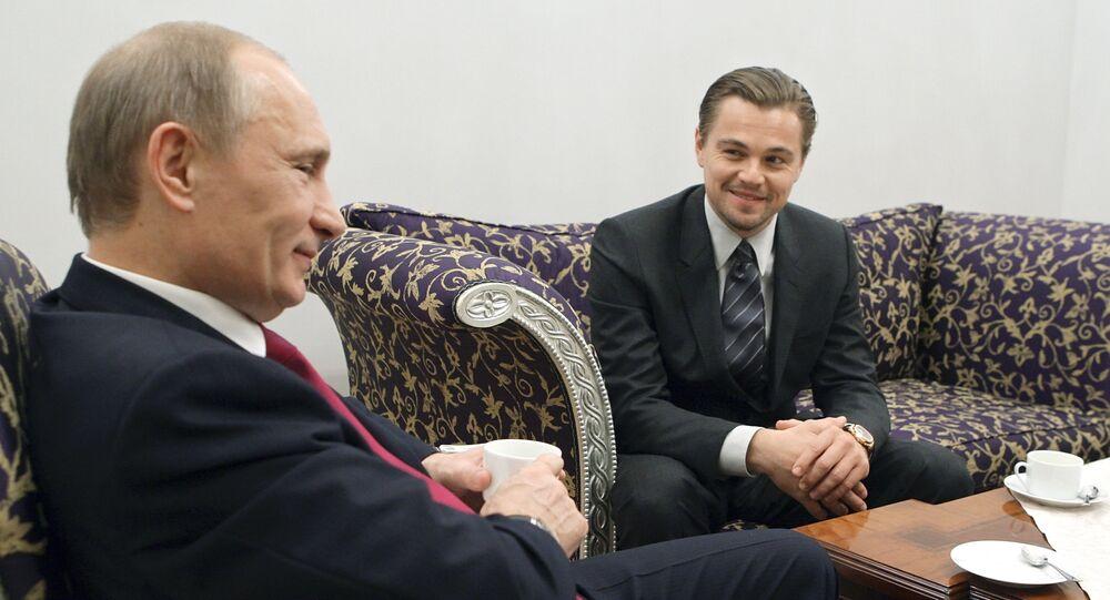 Leonardo Di Caprio ve Vladimir Putin.