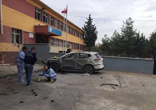 Kilis'te okula havan topu düştü