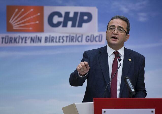 CHP Genel Başkan Yardımcısı Bülent Tezcan, parti genel merkezinde basın toplantısı düzenledi.