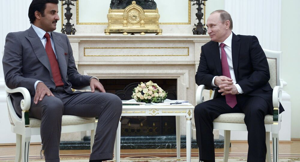 Katar Emiri Hamad bin Halife el Sani ve Rusya Devlet Başkanı Vladimir Putin