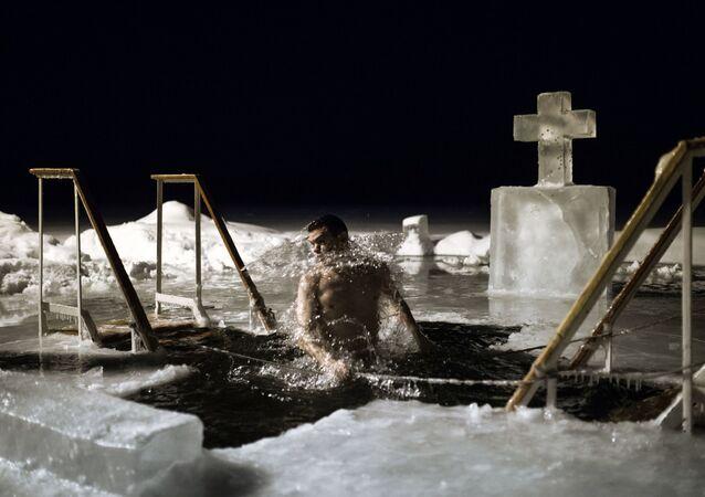 Rusya'da Vaftiz kutlaması