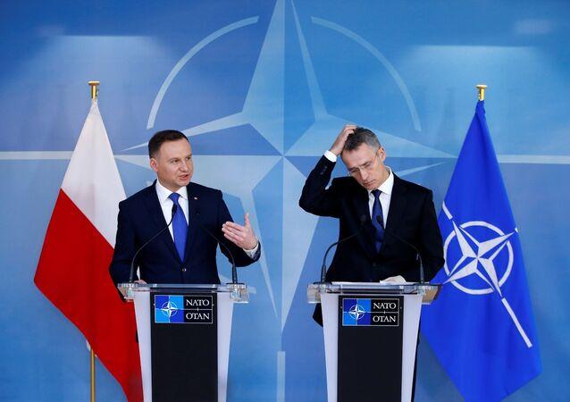NATO Genel Sekreteri Jens Stoltenberg - Polonya Devlet Başkanı Andrzej Duda