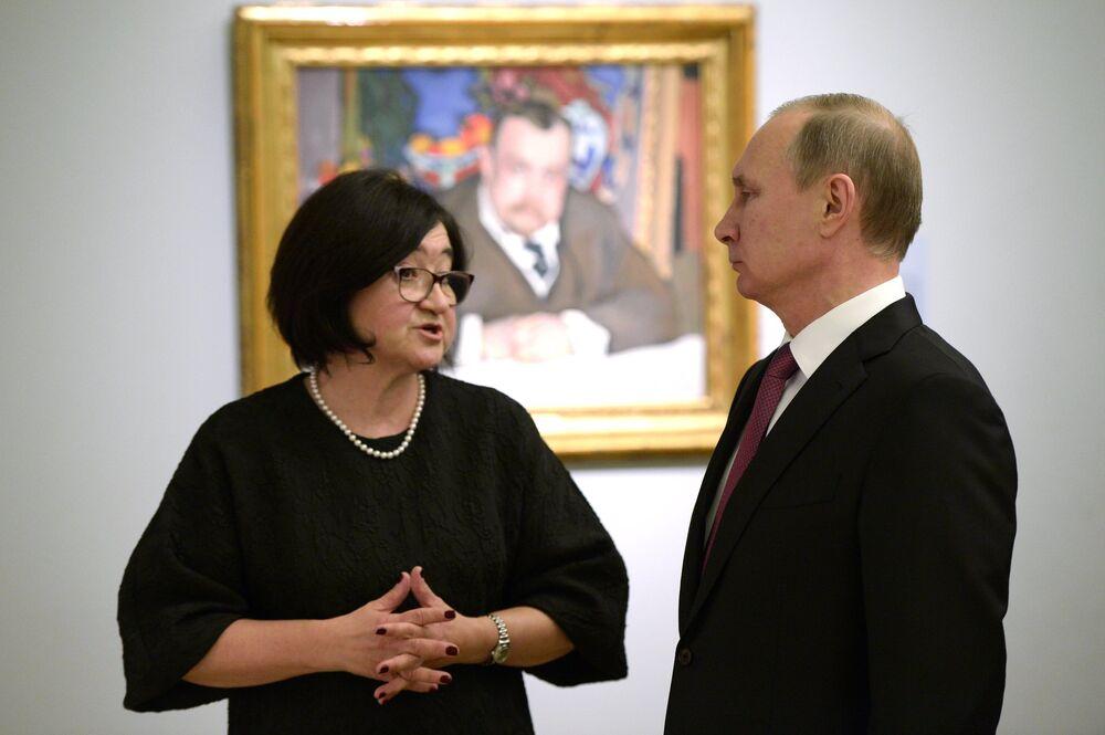 Putin, Tretyakov Müzesi'nde