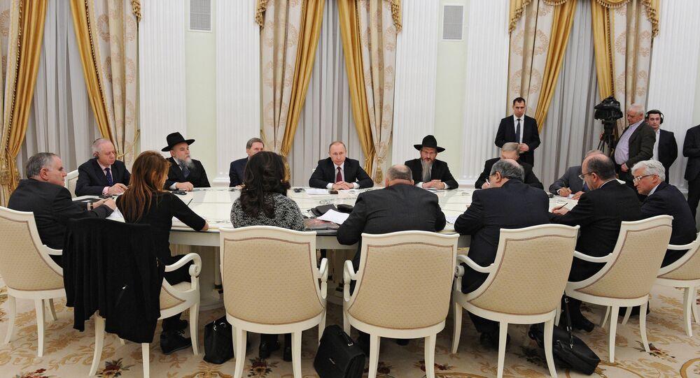 Rusya Devlet Başkanı Putin, Moskova'da Yahudi yetkililerle görüştü.