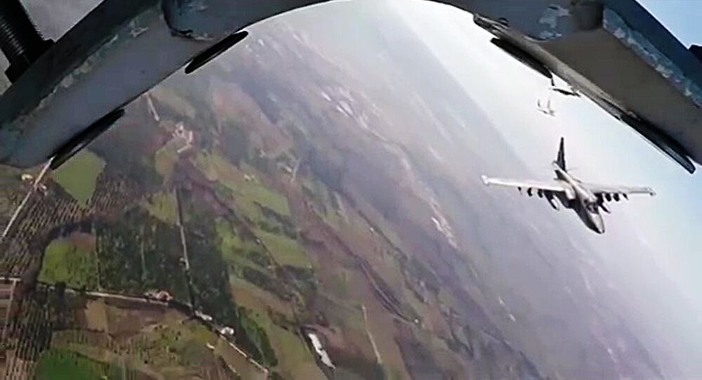 Russia's Su-25 and Syria's MiG-29 on combat flight mission from Hmeimim airbase