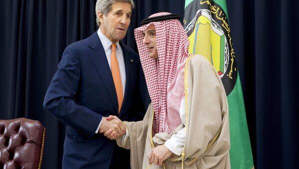 ABD Dışişleri Bakanı John Kerry ve Suudi Arabistan Dışişleri Bakanı Adil el Cubeyr - Sputnik Türkiye