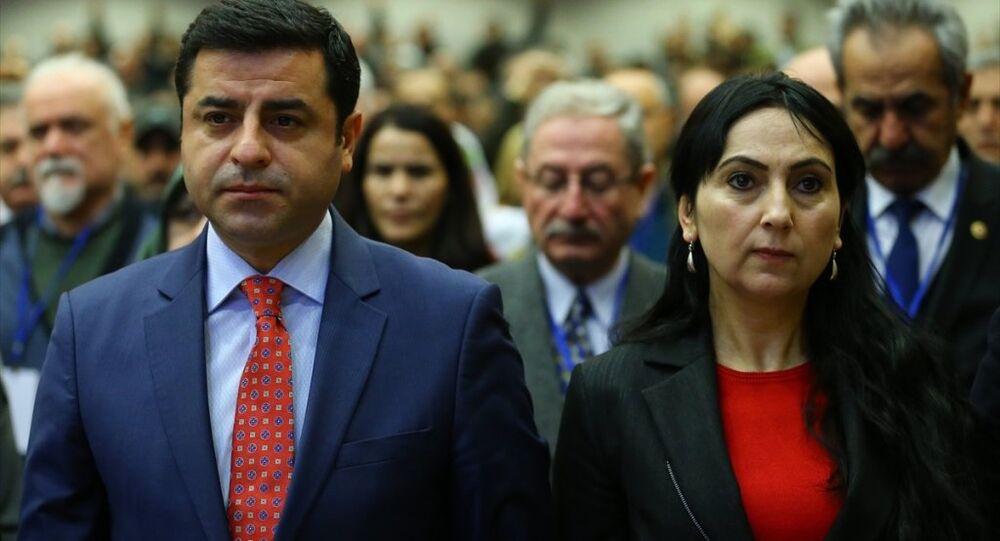 HDP Eş Genel Başkanları Selahattin Demirtaş ile Figen Yüksekdağ