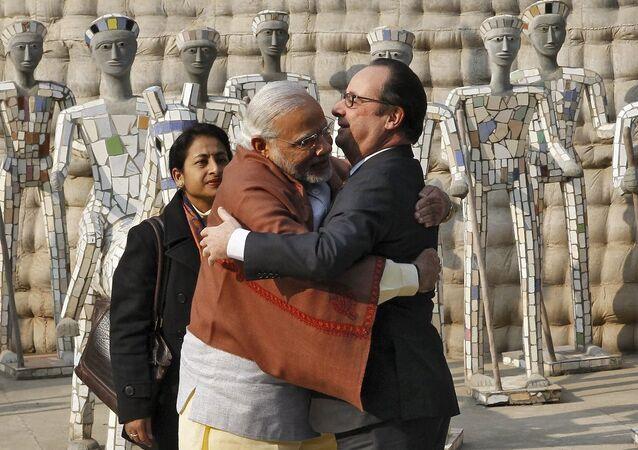 Hindistan Başbakanı Narendra Modi- Fransa Cumhurbaşkanı François Hollande