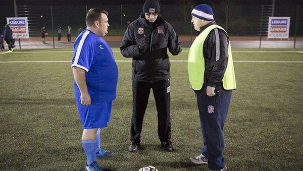 İngiltere'de obezler için futbol ligi - Sputnik Türkiye