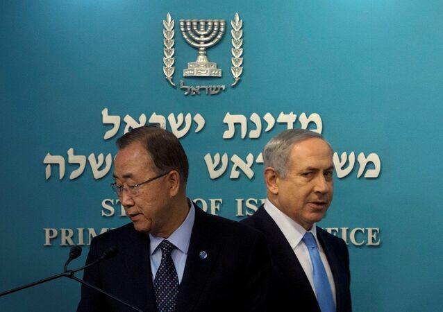 BM Genel Sekreteri Ban Ki-mun- İsrail Başbakanı Benyamin Netanyahu