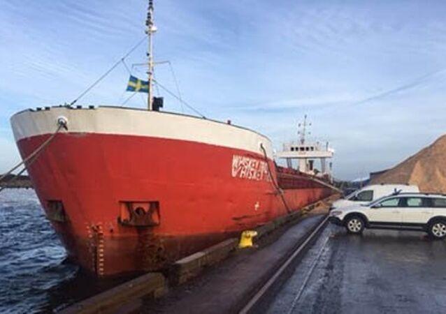 Patlayıcı taşıyan Türk yük gemisi İsveç'te bekletiliyor.