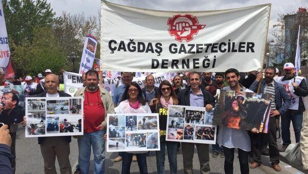 Çağdaş Gazeteciler Derneği - basın özgürlüğü - Sputnik Türkiye