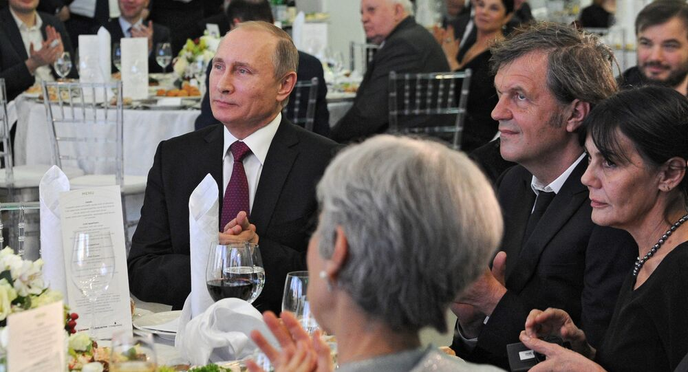 Rusya Devlet Başkanı Vladimir Putin- Sırp yönetmen Emir Kusturica