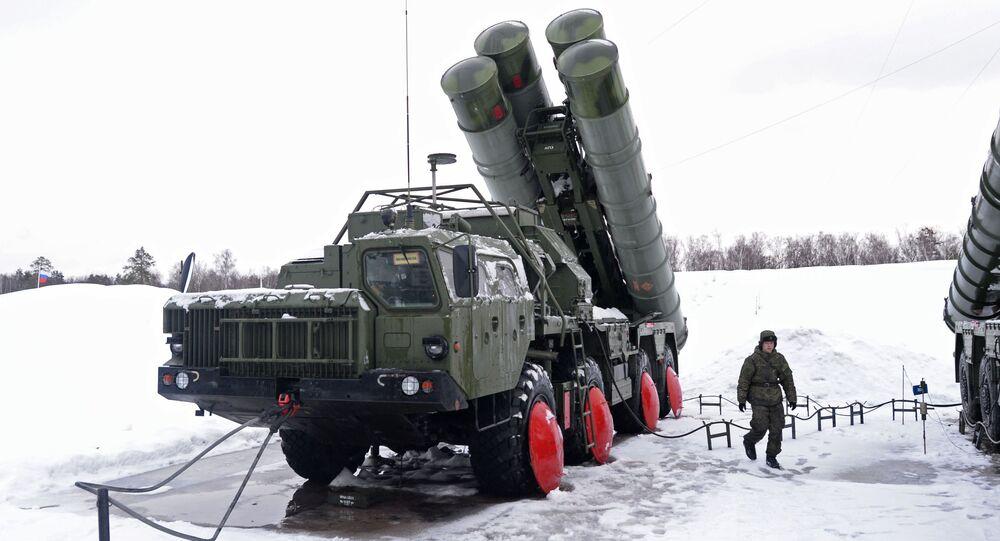 Moskova bölgesindeki S-400 taburu