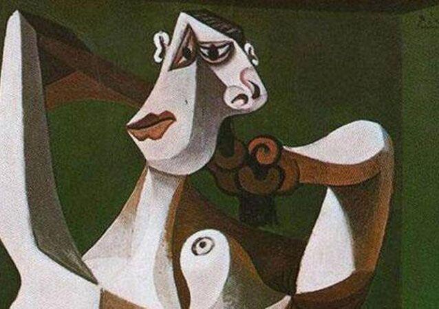 Picasso 'Saçını Tarayan Çıplak Kadın' tablosu
