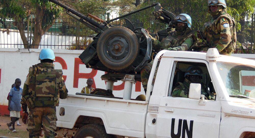 Orta Afrika Cumhuriyeti'ndeki BM askerleri