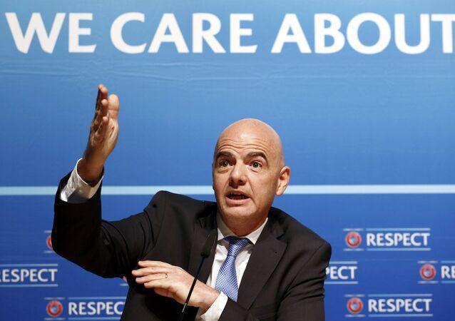 FIFA başkan adayı, UEFA Genel Sekreteri Gianni Infantino