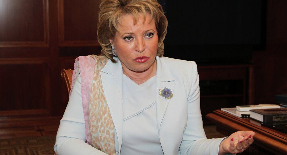 Rusya Federasyon Konseyi Başkanı Valentina Matviyenko