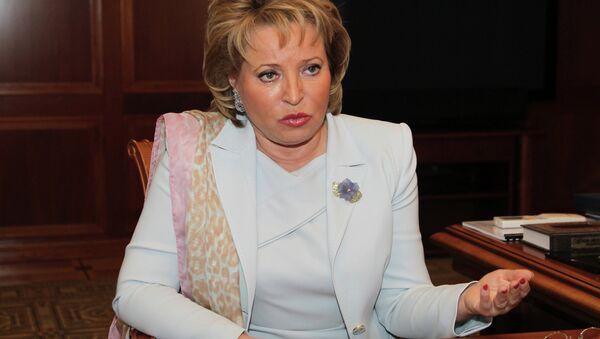 Rusya Federasyon Konseyi Başkanı Valentina Matviyenko - Sputnik Türkiye
