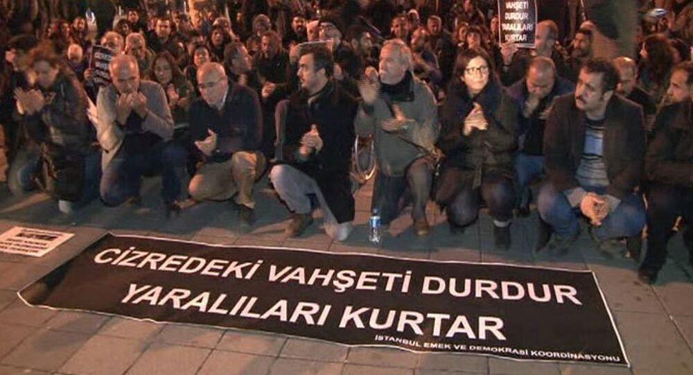 Kadıköy'de Cizre eylemi