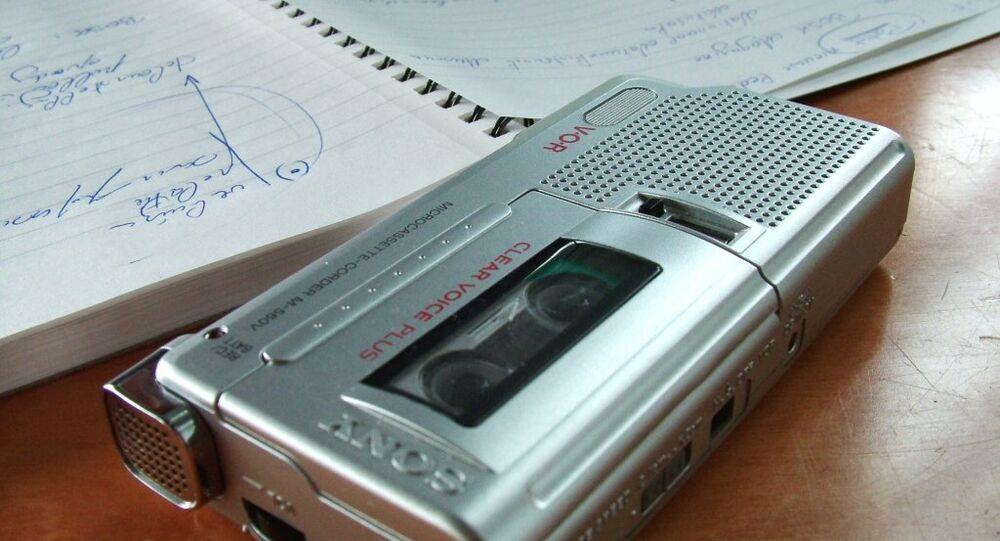 Ses kayıt cihazı - basın - gazeteci