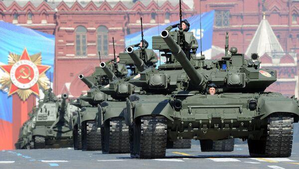Rusya'nın T-90 tankları Kızıl Meydan'da. - Sputnik Türkiye