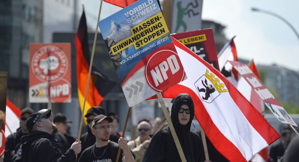 Almanya'da faaliyet gösteren aşırı sağcı Ulusal Demokrat Parti (NFD)