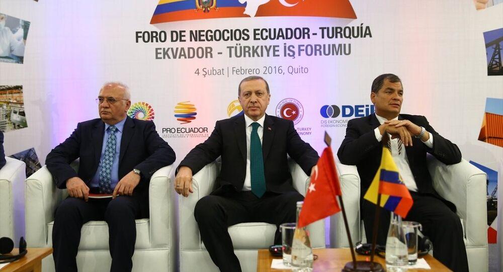 Türkiye Cumhurbaşkanı Recep Tayyip Erdoğan- Ekvador Devlet Başkanı Rafael Correa