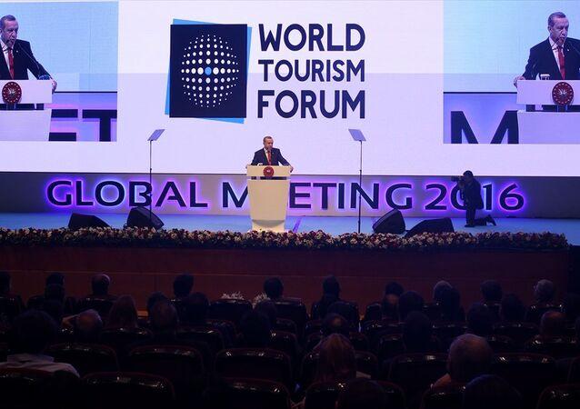 Cumhurbaşkanı Erdoğan, Dünya Turizm Forumu'nun kapanışında konuştu.