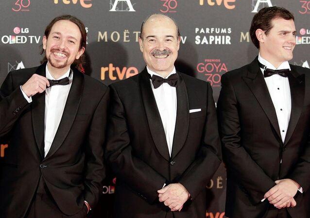 Podemos lideri Pablo Iglesias, Goya ödül töreninde