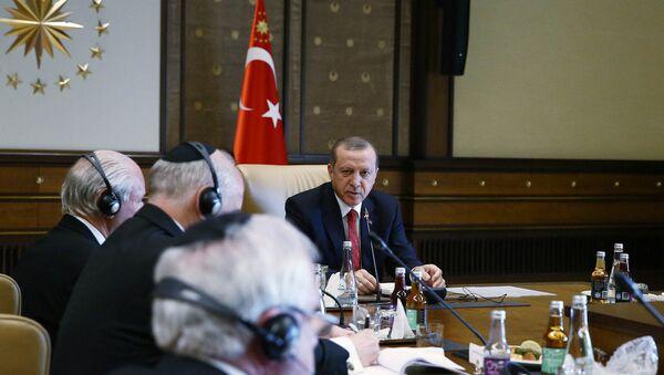 Cumhurbaşkanı Erdoğan, Yahudi kuruluşlarını kabul etti - Sputnik Türkiye
