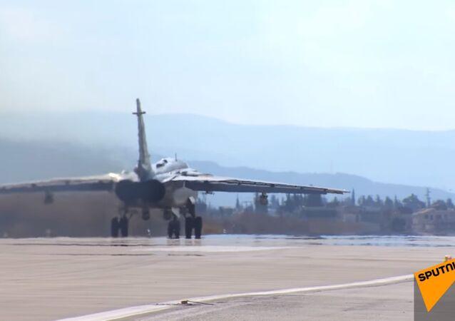 Rus uçakları Suriye semalarında/ Video haber