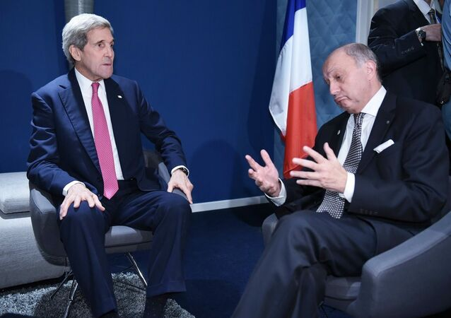 Fransa Dışişleri Bakanı Laurent Fabius - ABD Dışişleri Bakanı John Kerry