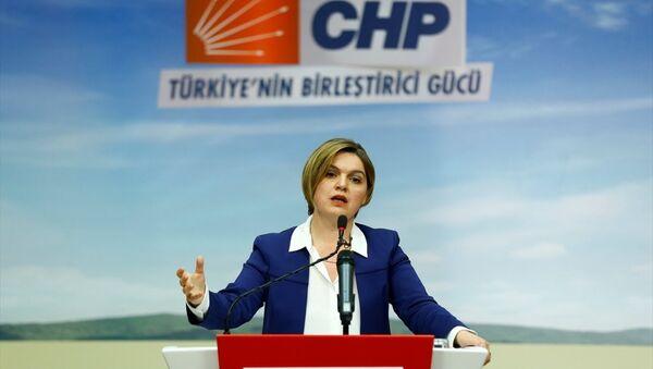 CHP Genel Başkan Yardımcısı ve Parti Sözcüsü Selin Sayek Böke, CHP Genel Merkezi'nde basın mensuplarına açıklamalarda bulundu ve soruları yanıtladı. - Sputnik Türkiye