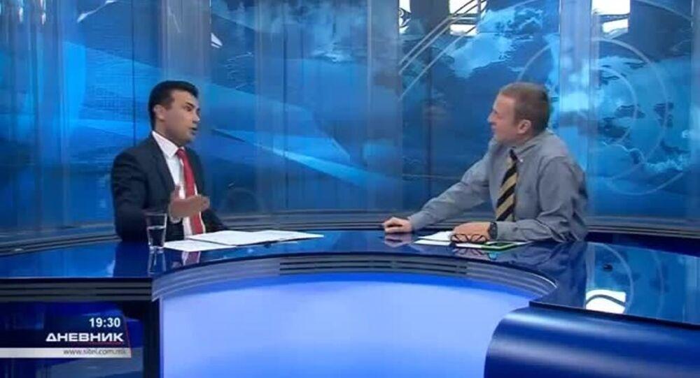 Makedonya'da gazeteci Dragan Pavloviç Latas dün akşamki ana haber bülteninde konuğu olan ana muhalefet lideri Zoran Zaev'e, Türk gibi yalan söylüyorsunuz dedi.