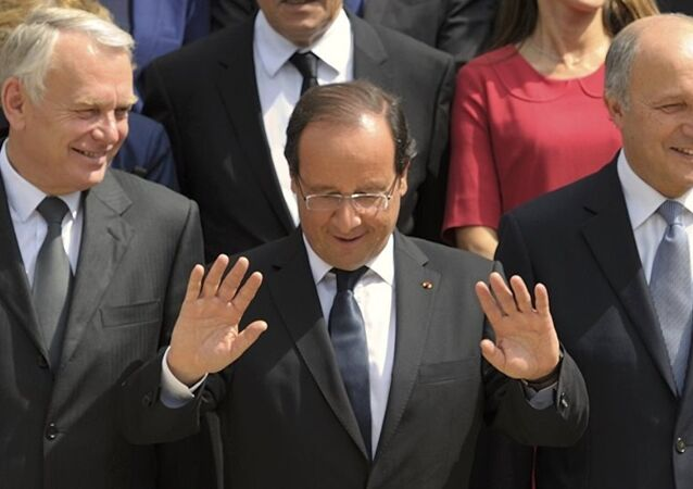 Jean-Marc Ayrault - François Hollande - Laurent Fabius