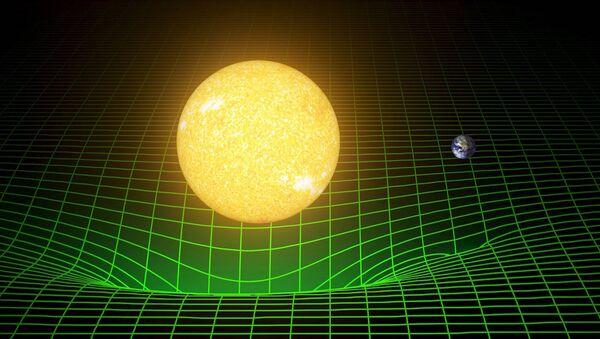Dünya'nın ve Güneş'in uzay ve zamanı eğmesine dair bir bilgisayar simülasyonu - Sputnik Türkiye