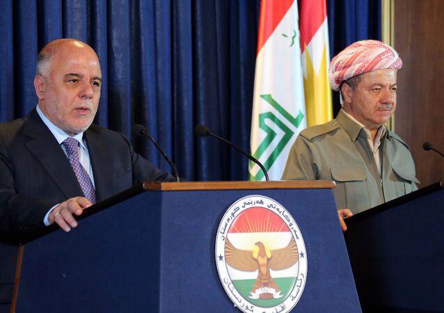 Irak Başbakanı Haydar El İbadi ve IKBY Başkanı Mesud Barzani