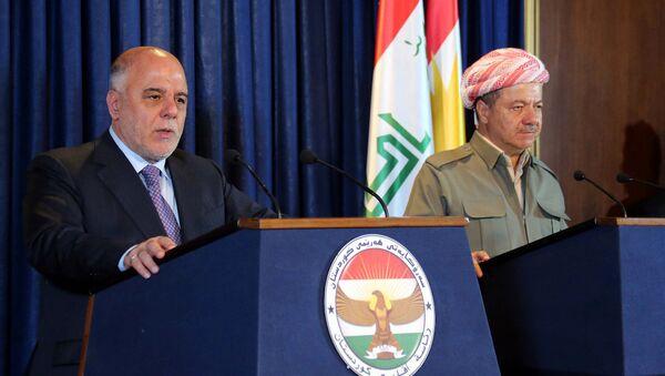 Irak Başbakanı Haydar El İbadi ve IKBY Başkanı Mesud Barzani - Sputnik Türkiye