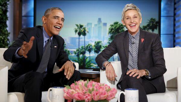 ABD Başkanı Barack Obama- Ellen DeGeneres - Sputnik Türkiye