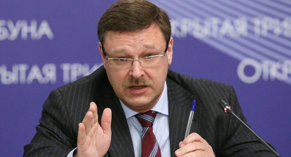 Rusya Federasyon Konseyi Dışişleri Komitesi Başkanı Konstantin Kosaçev