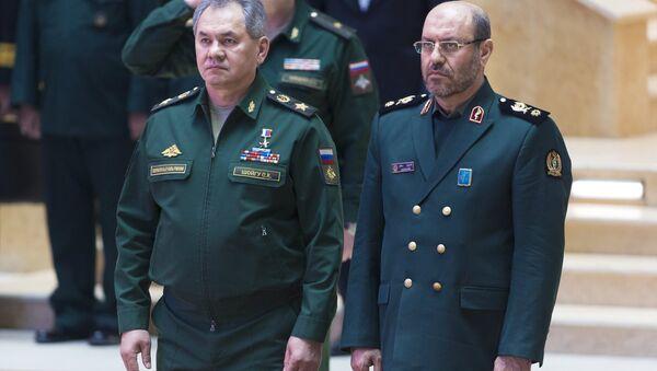 İran Savunma Bakanı Hüseyin Dehkan ve Rusya Savunma Bakanı Sergey Şoygu - Sputnik Türkiye