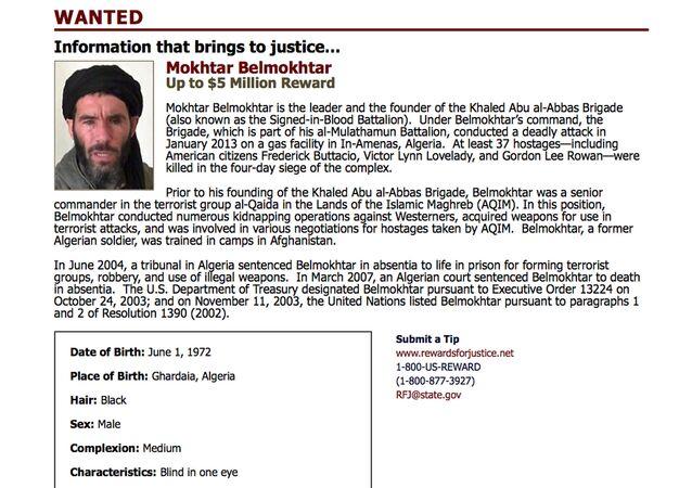 El Kaide bağlantılı Murabitun Örgütü lideri Muhtar Belmuhtar
