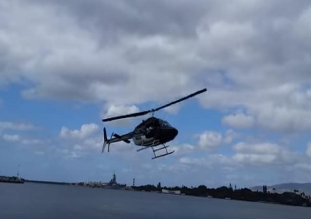 Helikopter suya düştü