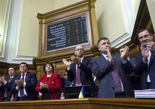 Ukrayna Meclisi - Başbakan Arseniy Yatsenyuk - Maliye Bakanı Natalya Yaresko - İçişleri Bakanı Arsen Avakov